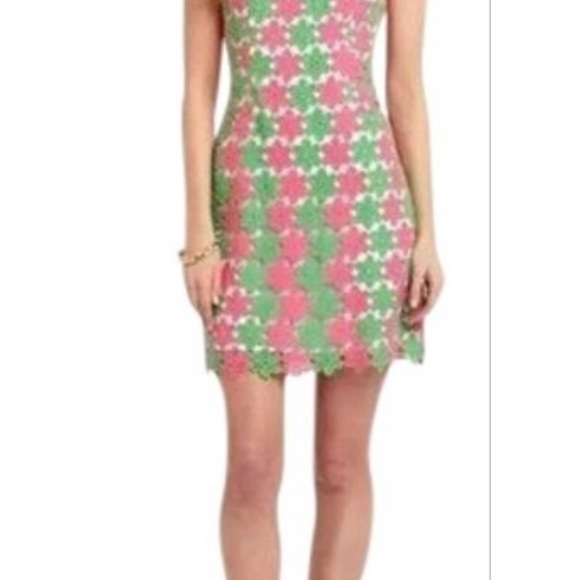 Lilly Pulitzer floral crochet dress